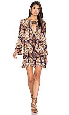 Klyn Short Dress in High Noon Print