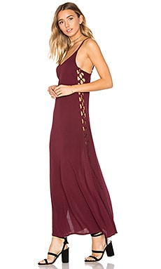 Uma Midi Dress in Plum