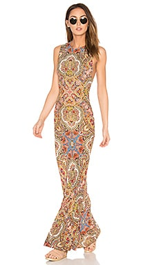 Rock Maxi Dress in Rocker Paisley