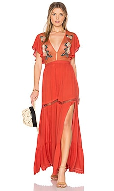 Amery Maxi Dress in Coral