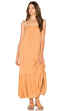 Pipa Slip Dress in Terracotta