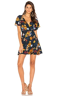 Oxford Wrap Mini Dress