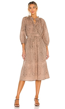 Fern Midi Dress Cleobella $238 NEW