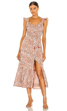 Sophia Midi Dress Cleobella $188 NEW