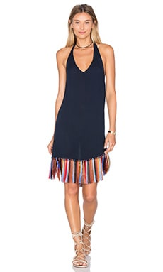 x Zella Day for REVOLVE Tassel and Tie Dress in Indigo