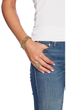 Cleobella Myla Bracelet & Ring in Brass