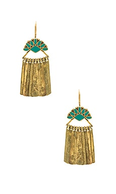 Carla Earrings in Brass & Turquoise
