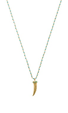 Baylin Necklace in Brass & Turquoise