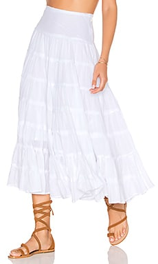 Cleobella x Zella Day for REVOLVE Ruffle Seam Skirt in White
