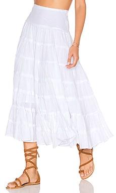 Cleobella x Zella Day for REVOLVE Ruffle Seam Skirt in White