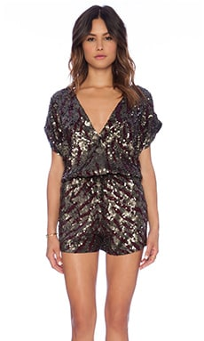 Cleobella Sequins Romper in Black