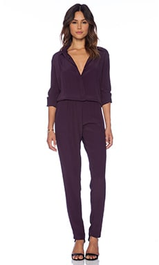 Griffin Jumpsuit in Plum