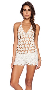 Meadow Romper in Ivory