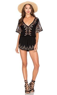 Caroline Romper in Black