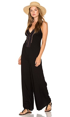 Cleobella x Zella Day for REVOLVE Native Bone Necklace Jumpsuit in Black
