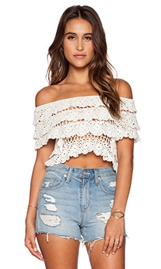 Cleobella Holly Scoop Top in Ivory