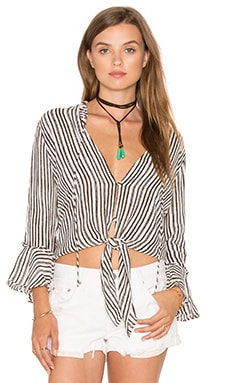 x Zella Day for REVOLVE All Over Top en Ivory & Espresso Stripe