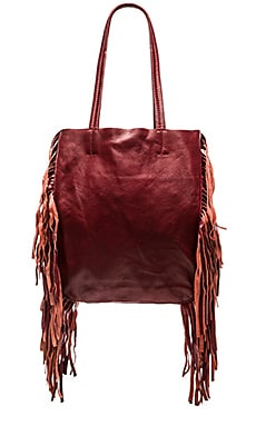 Cleobella Hendrix Tote Bag in Oxblood