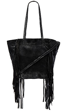 Cleobella Small Hendrix Tote With Cross Body Strap in Dark Silver