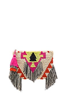Domino Clutch in Fuchsia