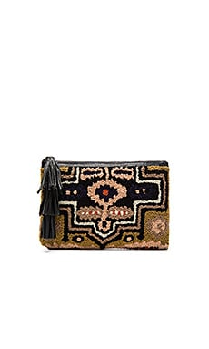 Cleobella London Clutch in Blush & Black