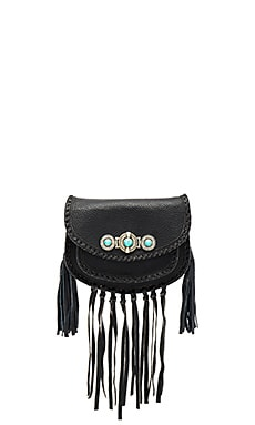 Tanna Mini Saddle Bag em Preto
