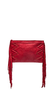 Cleobella Joplin Stud Clutch in Red