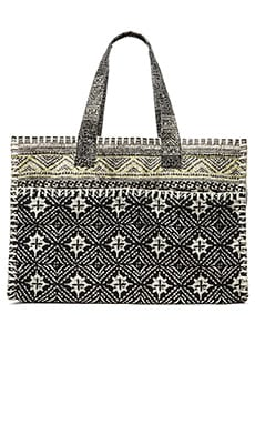 Cleobella Malaya Tote in Woodblock Tile