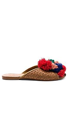 Купить Шлепанцы goldie - Cleobella, Шлёпанцы, Индонезия, Цвет загара