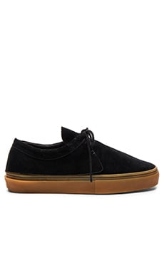 Clear Weather The Santora in Black Pig Suede & Gum