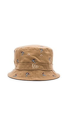CLOT New Era Dolphin Bucket Hat in Beige