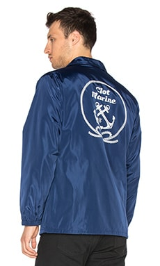 CLOT Coach Jacket in Navy