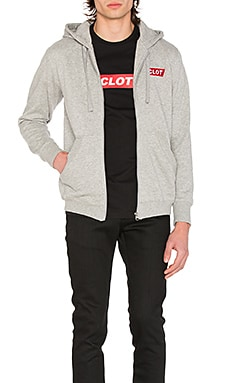 Box Logo Zip Up Hoodie