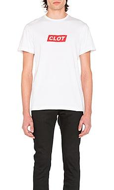 Прямая футболка с логотипом - CLOT