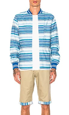 Рубашка в рубчик на молнии - CLOT