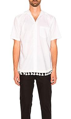 Рубашка с коротким рукавом и капюшоном - CLOT