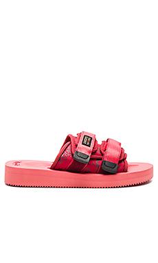 CLOT x Suicoke Moto Sandal in Red