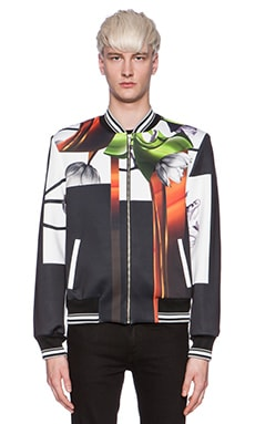 Clover Canyon Steel Floral Bomber in Black