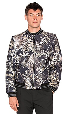 Clover Canyon Night Palms Bomber in Neutral