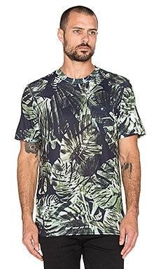 Clover Canyon Night Palms Tee in Green