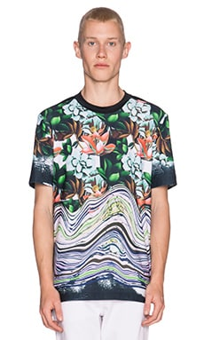 Clover Canyon Lotus Glitch Tee in Multi