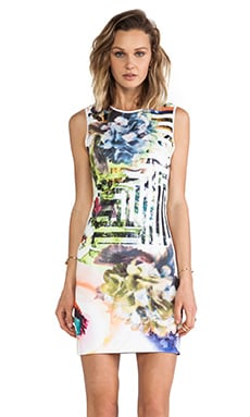 Floral Maze Neoprene Dress in Multi