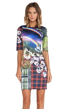 Clover Canyon Ashford Castle Neoprene Dress in Multi