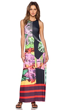 Clover Canyon Painted Garden Maxi Dress in Multi