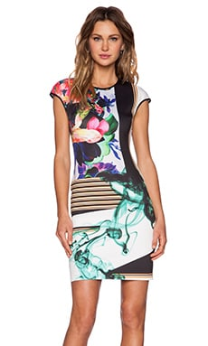 Clover Canyon Liquid Jade Midi Dress in Multi