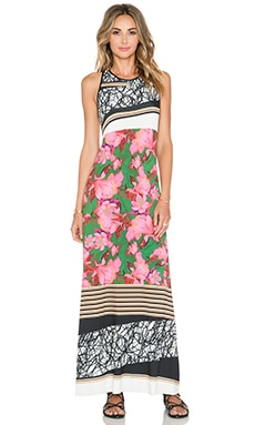 Clover Canyon Scribble Scarf Maxi Dress in Multi