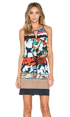 Ink Strokes Dress in Multi