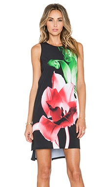 Clover Canyon Silent Flower Mini Dress in Black