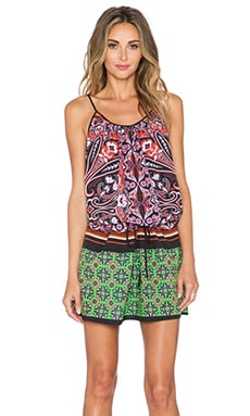 Clover Canyon Native Paisley Mini Dress in Multi