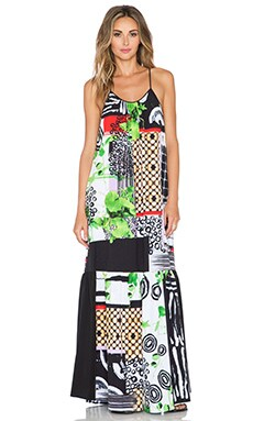 Clover Canyon Painted Collage Dress in Multi